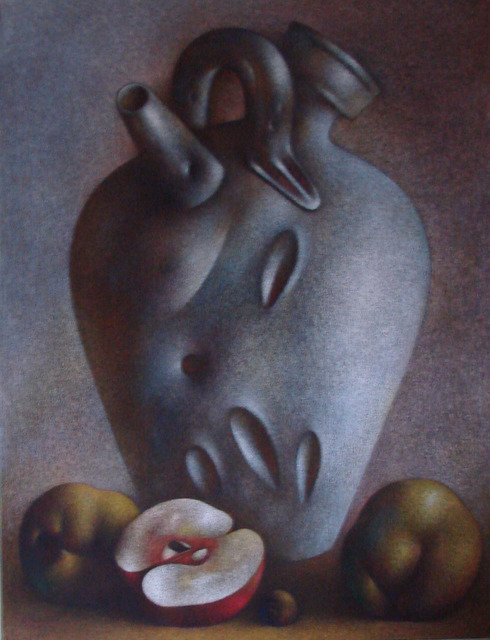 Roman Kriheli, 'Divine Decanter', 1986, Painting, Mixed Media on Canvas, Avant Gallery