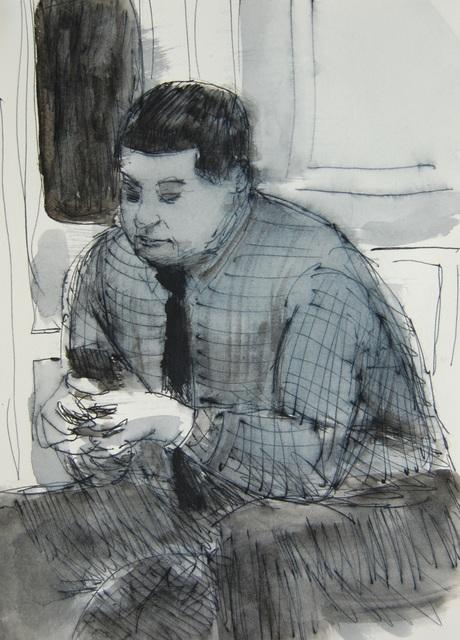 , 'Plaid Shirt, Black Tie, Phone,' 2017, Ground Floor Gallery