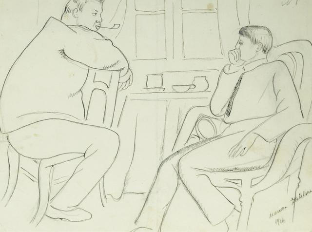 Marie Vorobieff Marevna, ''Rivera and Picasso, 1916'', Roseberys