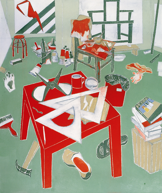 , 'Red Square Table, My Studio,' 2009-2010, Tang Contemporary Art