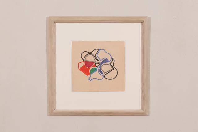 Sophie Taeuber-Arp, 'Formes coïncidentes, lignes et plans', 1942, Painting, Crayon on paper, Galerie Knoell, Basel