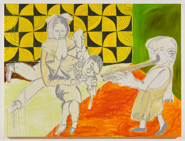 , 'Untitled (Three figures, one with double flute),' 2017, MARTOS GALLERY