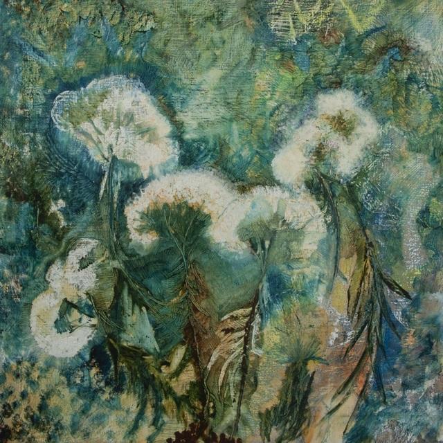 George Mead Moore, 'Cloud Flowers', 2020, Painting, Oleo/lino, Galería Quetzalli