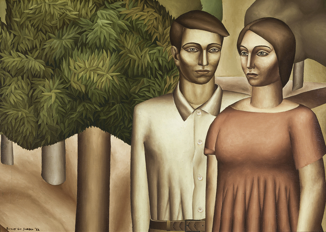 , 'Man and Woman with Acacia Tree,' 1932, Hirschl & Adler