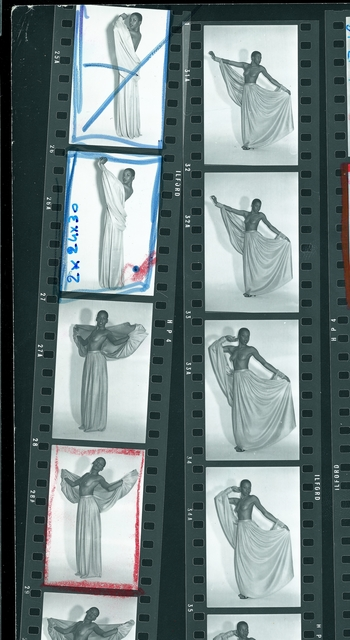 , 'Contact sheet of Jean Paul Gaultier's photographs of Aïtize Hanson,' 1971, Brooklyn Museum