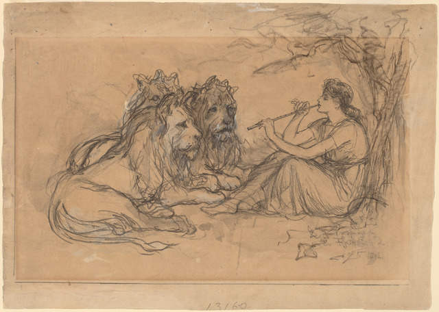 Frederick Stuart Church, 'Idyll', 1886, Drawing, Collage or other Work on Paper, Graphite with gray wash and white heightening on brown paper, National Gallery of Art, Washington, D.C.