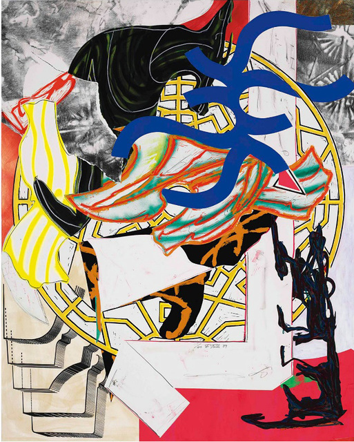 Frank Stella, 'The Hyena from Waves II', 1985-89, Print, Screenprint, lithograph and linocut in colors with handcoloring, marbling and collage on T. H. Saunders wove paper, Kenneth A. Friedman & Co.