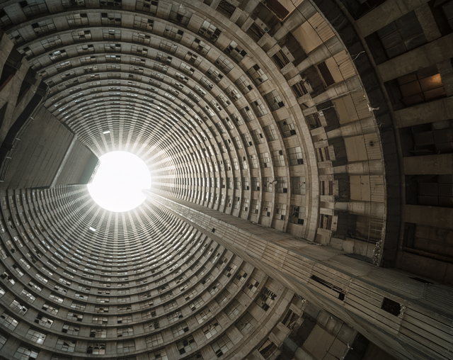 , 'Looking up the core 2, Ponte City,' 2010, Goodman Gallery