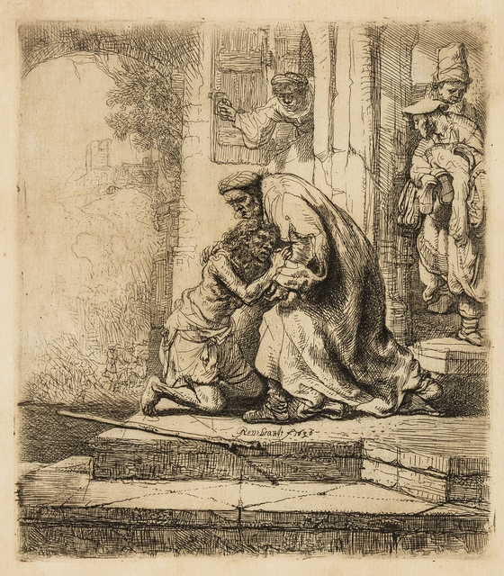 Rembrandt van Rijn, 'The Return of the Prodigal Son', circa 1636, Print, Etching with light plate tone, Forum Auctions