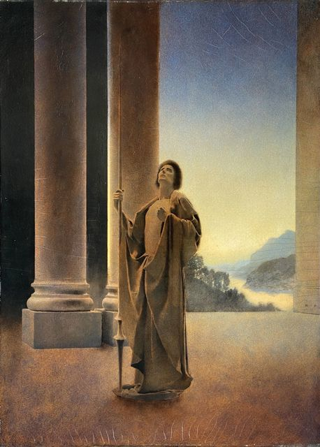 Maxfield Parrish, 'Virgil at Arms', 1904, Painting, Oil on Canvas, The Illustrated Gallery
