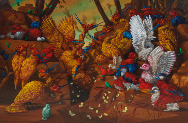Laurie Hogin, 'Looking at Nature Conventions of Signage', Painting, Oil on canvas, Hindman