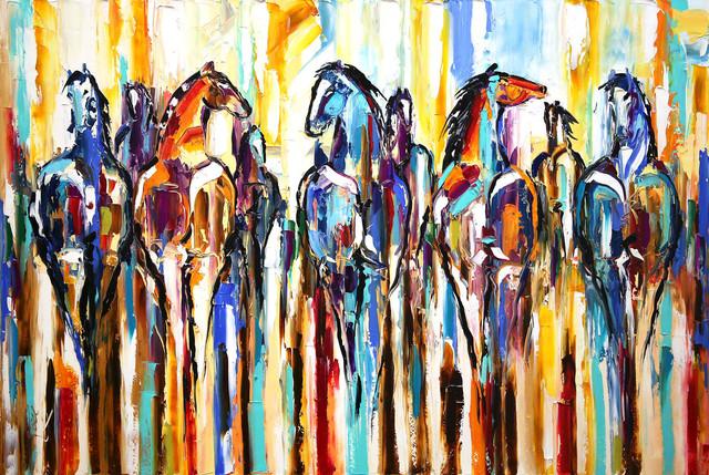 , 'The Herd: Return of the Painted Ponies,' 2017, Mirada Fine Art