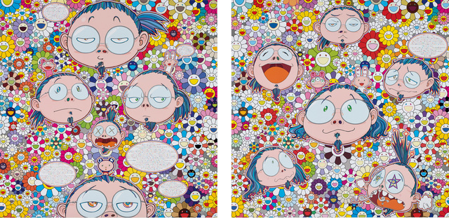 Takashi Murakami, 'Self-Portrait of the Manifold Worries of a Manifoldly Distressed Artist; The Artist's Agony and Ecstacy', 2012, Phillips