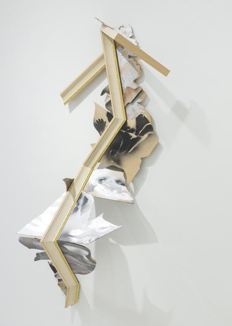, 'Wood Figure II,' 2016, Burning in Water