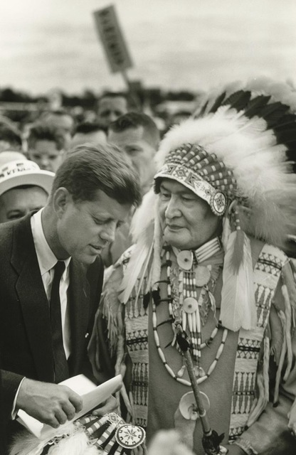 Art Shay, 'Future President John F. Kennedy listening to a Sioux Chief Photography ', 1960, Photography, Silver Gelatin Print Photography, Wizard Gallery