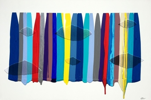 , 'Fils I Colors CCXLII,' 2015, Matthew Rachman Gallery