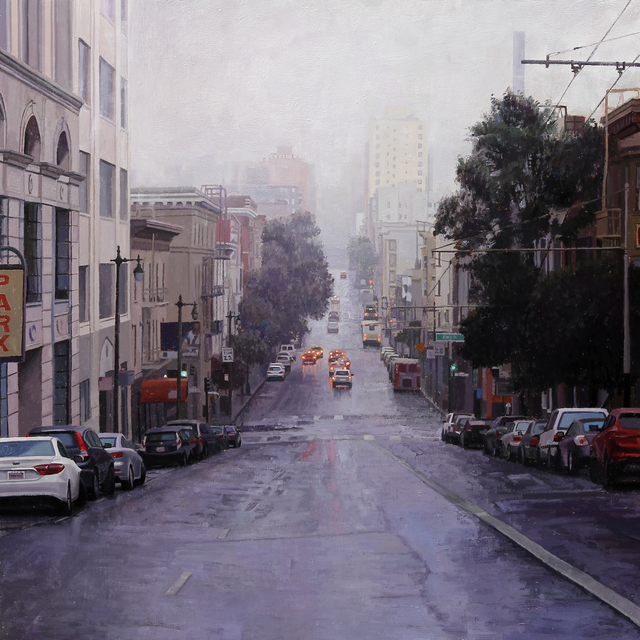 , 'Looking Down Post Street Towards Downtown,' , Gallery 1261