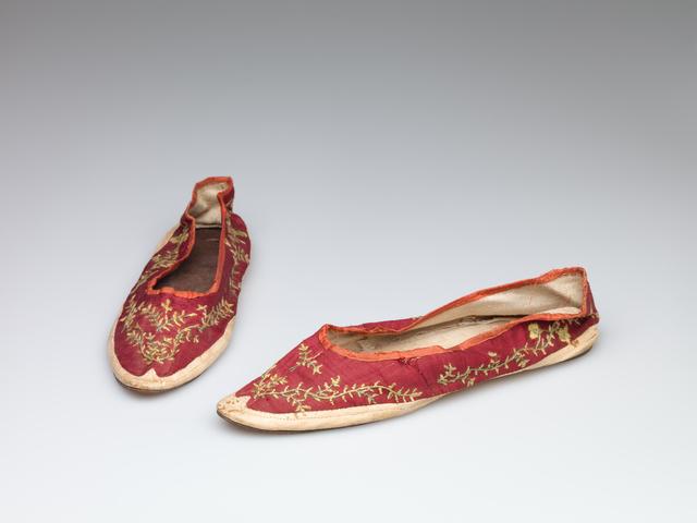 'Women's shoes', circa. 1810, RISD Museum