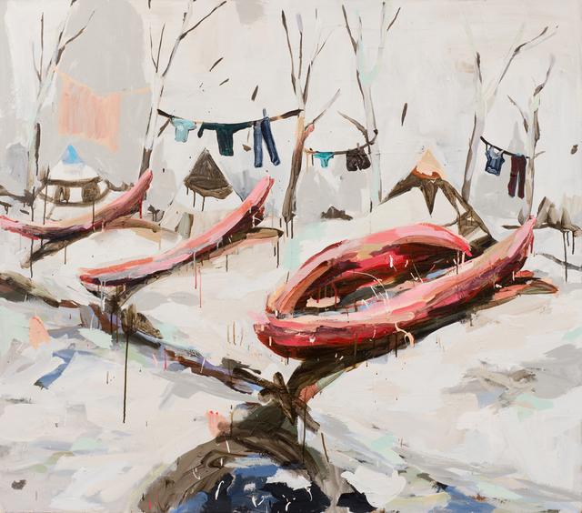 , 'Red Canoes on Beach,' 2014, Samuel Freeman
