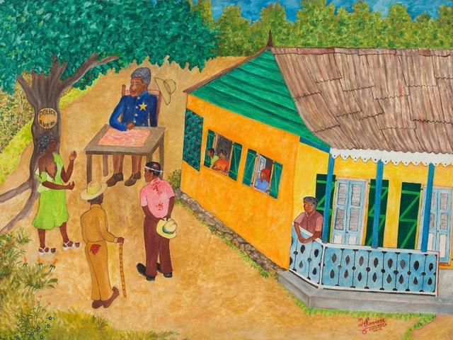 , 'Rural Court Case   ,' Circa 1980's, ZQ Art Gallery