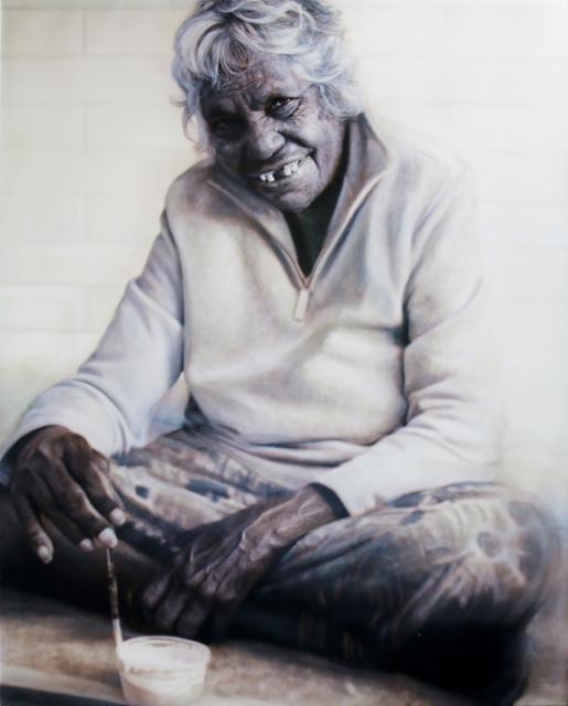 , 'Portrait of Gloria Petyarre (panel 3 of triptych),' , Nanda\Hobbs