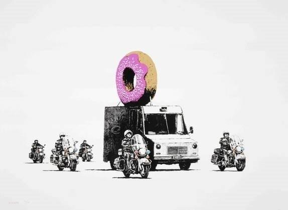 Banksy, 'Strawberry Donut', 2009, Robin Rile Fine Art