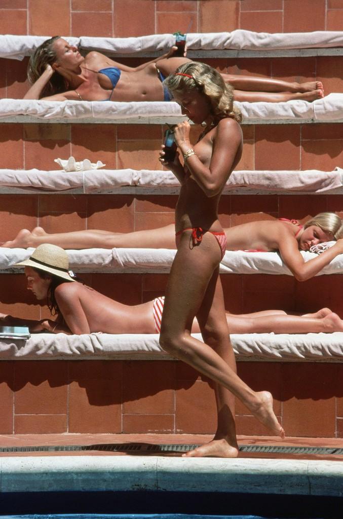 Slim Aarons, 'Catherine Wilke, Capri, Italy,' 1980, Staley-Wise Gallery