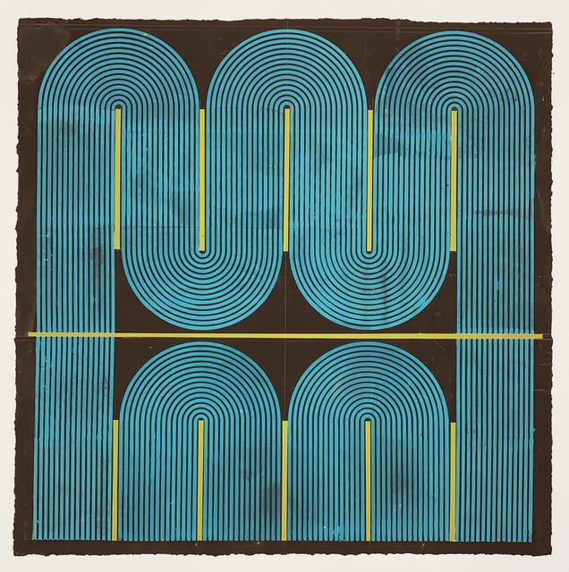 Elise Ferguson, 'Serpent', 2020, Painting, Pigmented plaster on paper, Massey Klein Gallery