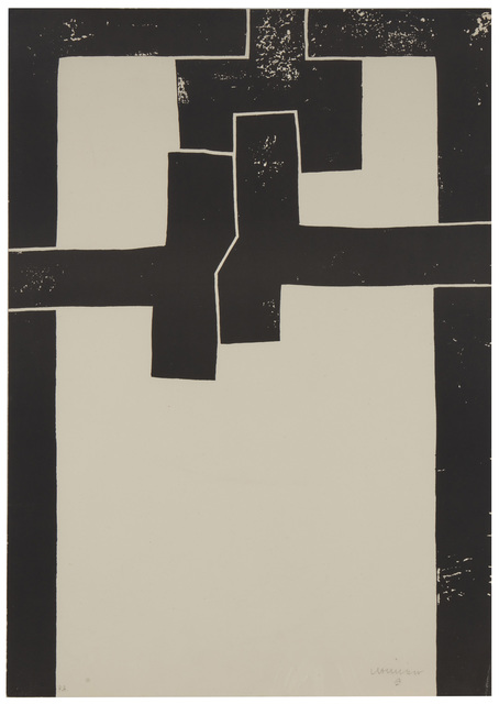 Eduardo Chillida, 'Barcelona I', 1971, Print, Lithograph on cream wove paper, Sala Gaspar, Barcelona, pub., Damian Caus, Barcelona, prntr., John Moran Auctioneers