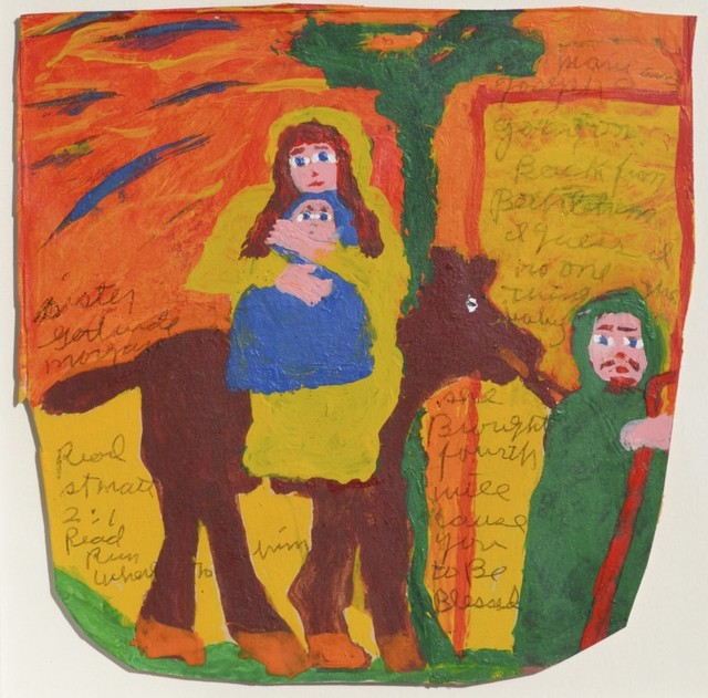 Sister Gertrude Morgan, 'Mary and Joseph Going on Back from Bethlehem ', ca. 1971, ZQ Art Gallery