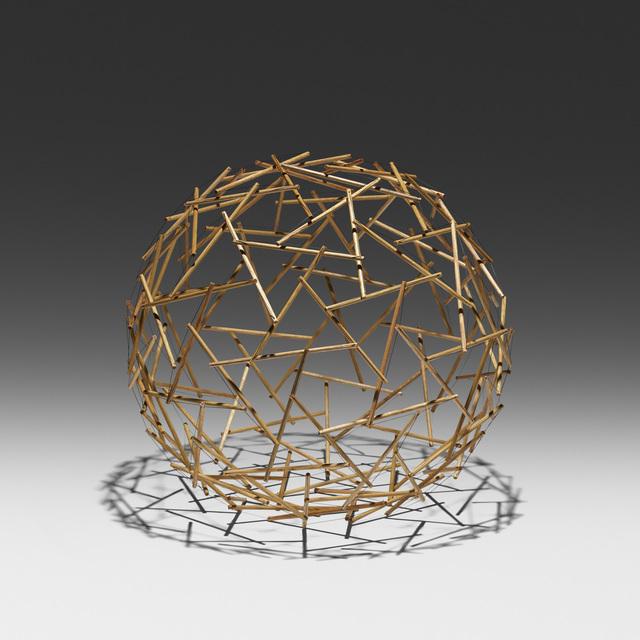 R. Buckminster Fuller, 'Geodesic Tensegrity Sphere, 120 Strut, 4 Frequency Dome', c. 1980, Wright