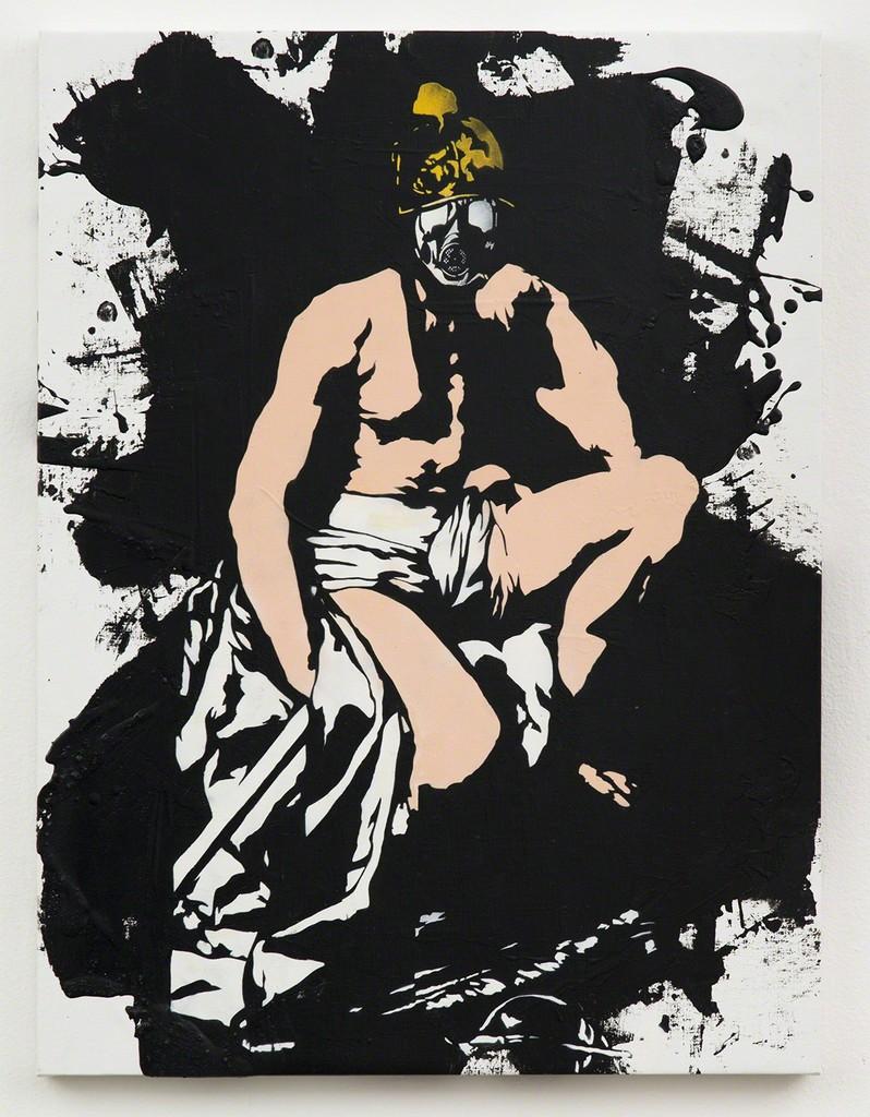 Blek le Rat, 'Mask and Helmet,' 2013, Jonathan LeVine Projects