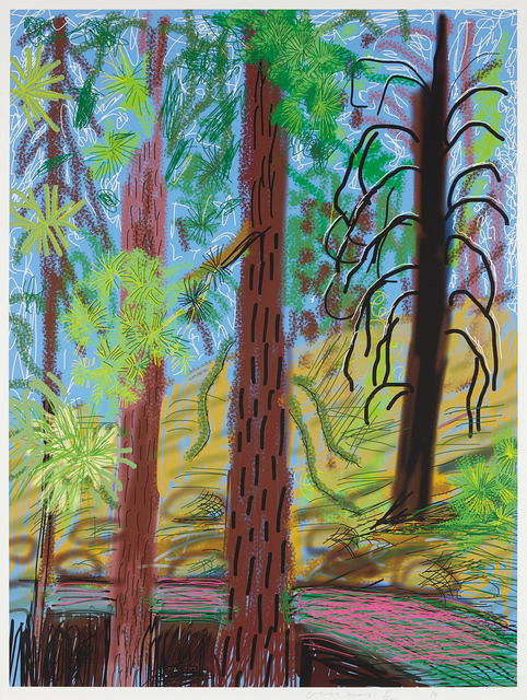 David Hockney, 'Untitled No. 6 from the Yosemite Suite', 2010, Phillips
