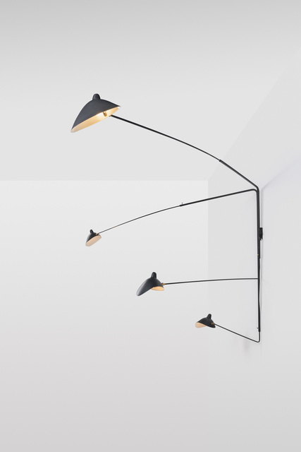 , 'Wall lamp with four pivoting arms,' 1990, Galerie Le Beau