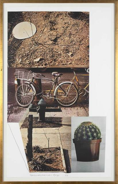 Robert Rauschenberg, 'STREET SOUNDS WEST', 1993, Print, Color intaglio on Chine collé on Arches paper, Doyle
