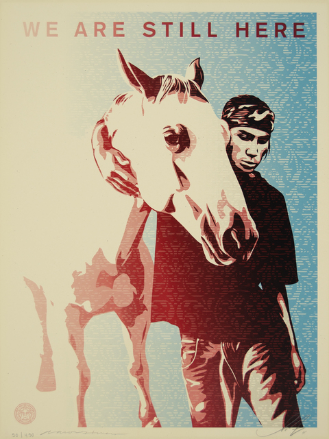 Shepard Fairey, 'Pine Ridge (We Are Still Here)', 2011, Heather James Fine Art Gallery Auction