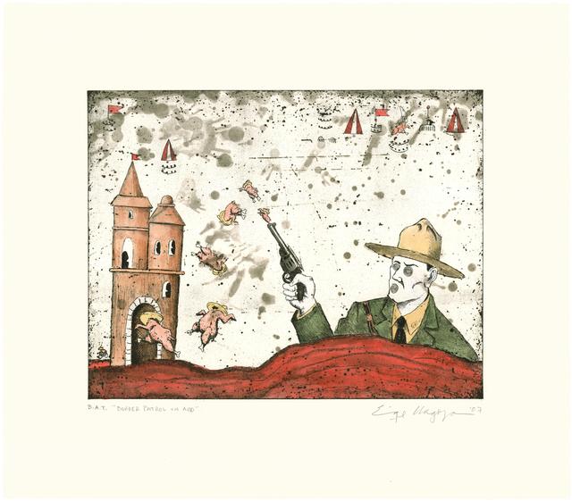 Enrique Chagoya, 'Border Patrol On Acid', 2007, Universal Limited Art Editions