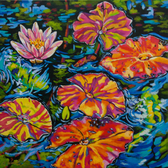 , 'Lilies Dance with Koi,' 2016, Baterbys