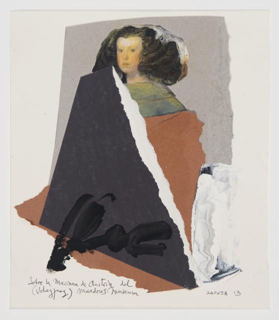 , 'Sobre la Mariana de Austria del Meadows Museum (Velazquez),' 2013, Valley House Gallery & Sculpture Garden