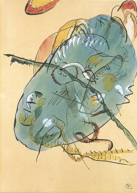 , 'Entwurf zu Blauer Fleck (Study for Blue Spot),' 1912/13, Moeller Fine Art