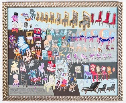 Pedro Friedeberg, 'Extraordinario y maravilloso, extravagante e insólito, singular y asombroso […] compendio y reunión de algunas pocas sillas, sillones, asientos y monturas cómodas ', 2016, MAIA Contemporary