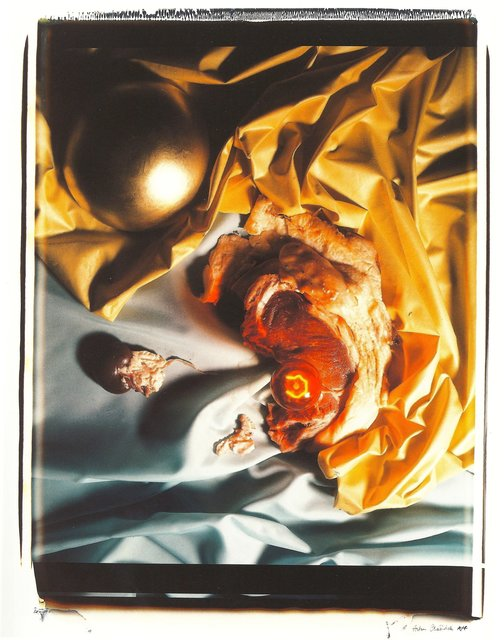 , 'Meat Abstract No. 8: Gold Ball / Steak,' 1989, Richard Saltoun