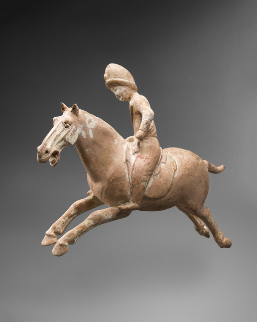, 'A very rare earthenware Polo Equestrian Figure,' Tang dynasty-618 – 906, Galerie Christian Deydier
