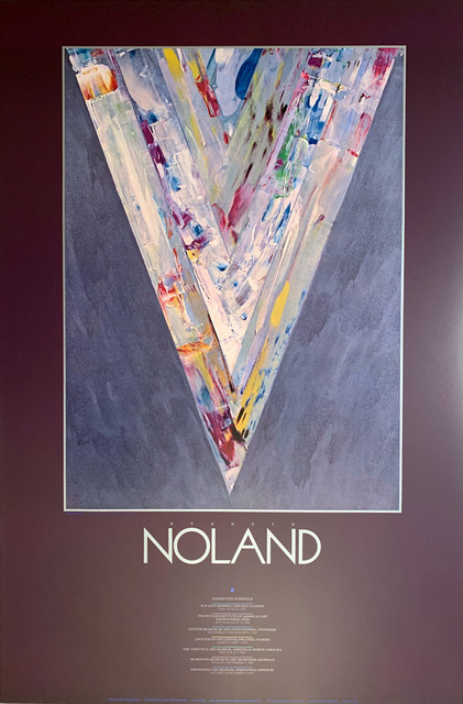 Kenneth Noland, 'Kenneth Noland Museum Exhibition Original Continuous Tone ( No Dots) Lithographic Poster', 1987, David Lawrence Gallery