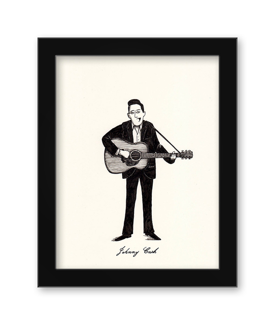 , 'Johnny Cash,' 2017, Spoke Art
