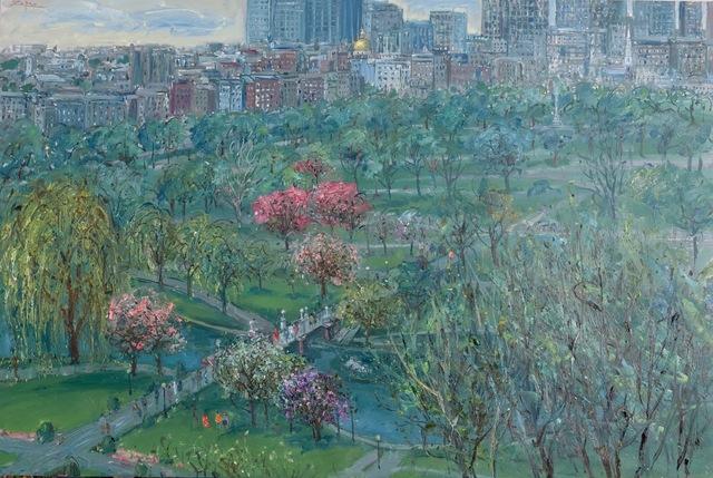 , 'Boston Public Gardens in Spring,' 2018, Galerie d'Orsay