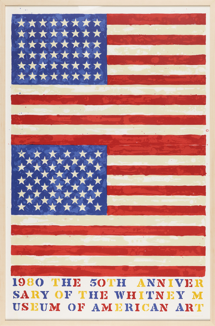 Jasper Johns, 'Two Flags (50th Anniversary of the Whitney Museum)', 1980, Rago