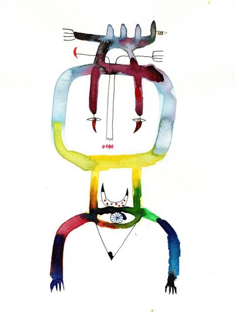 , 'Stick Figure I,' 2017, EBONY/CURATED