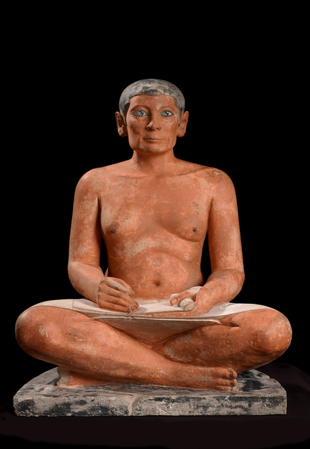 'Le scribe accroupi (The seated scribe)', 4th or 5th dynasty, 2600, 2350 BC, Musée du Louvre