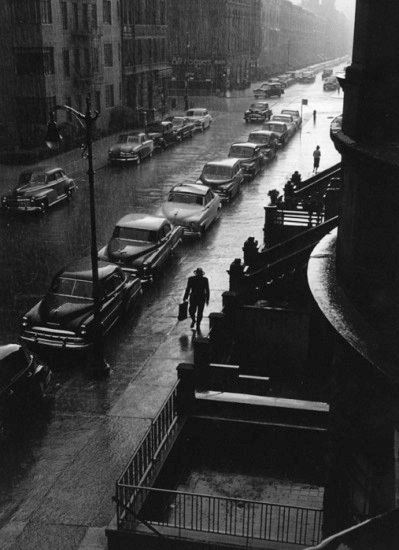 , 'Man in Rain, New York City,' 1952, Lumiere Brothers Gallery
